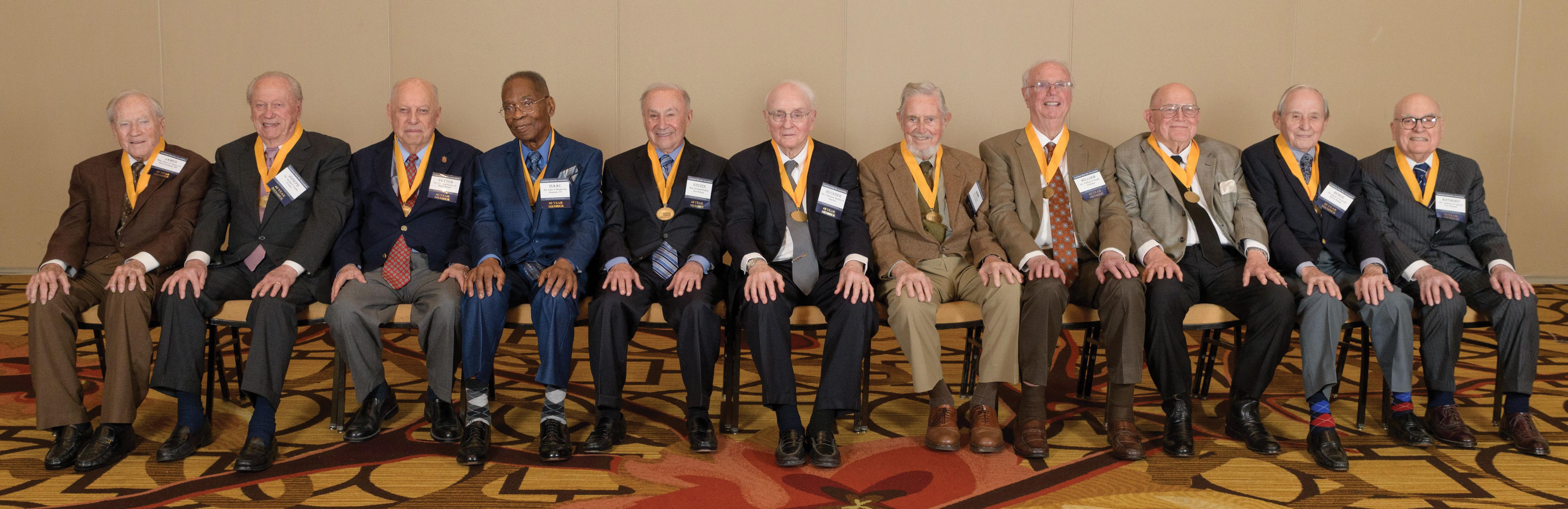 2016 60-Year Member Honorees