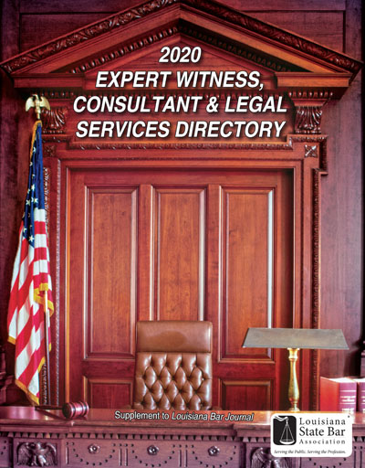 2020 Expert Witness, Consultant & Legal Services Directory